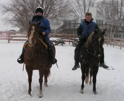 Emily on Sissy. and Brian on Smokey